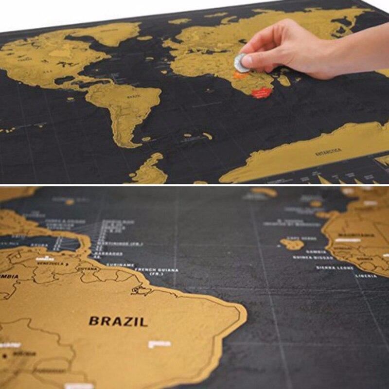 Weltkarte Muster Scratch Off Wandaufkleber Poster Wohnkultur Aufkleber World Tour Reise Footprint Deluxe Kunst Dekorative Marker