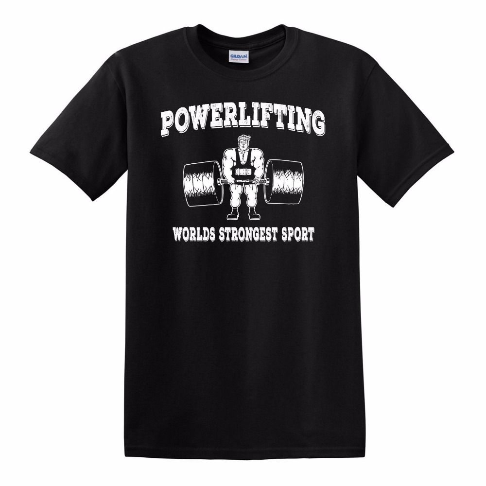 2018 Fashion Men T-Shirt Casual Short Sleeve For Men Clothing Summer Powerlifting Strongest Sportser T Shirt Hot Sale Clothes