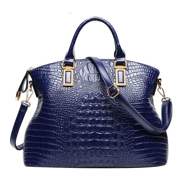 2015 мода натуральной кожи сумка женщин крокодил сумки Damous бренд дизайнер сумки на ремне дамы свободного покроя bolsas тотализатор femininas