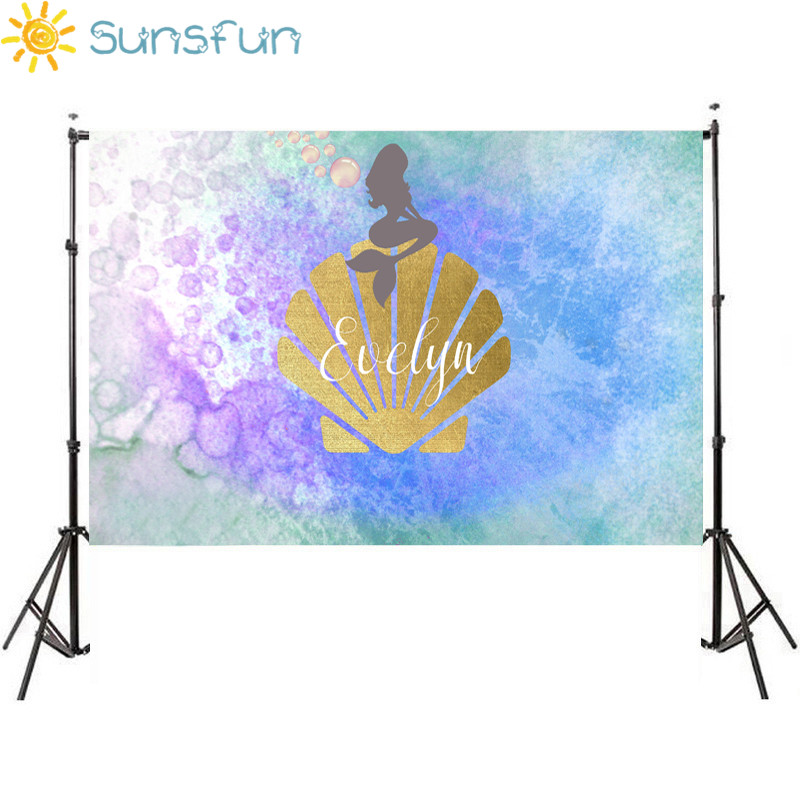 Sunsfun 7x5ft Photography Background Sea Mermaid Beautiful Photo Backdrop Vinyl Photography Backgrounds for Photo Studio sensfun where the wild things are dessert table backdrops custom photo studio backdrop background vinyl 7x5ft