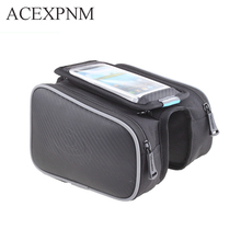 ACEXPNM Waterproof Bike Bag Frame Front Head Top Tube Cycling Bag Double Pouch 5.7 Inch Touch Screen Bicycle Bag Accessories стоимость