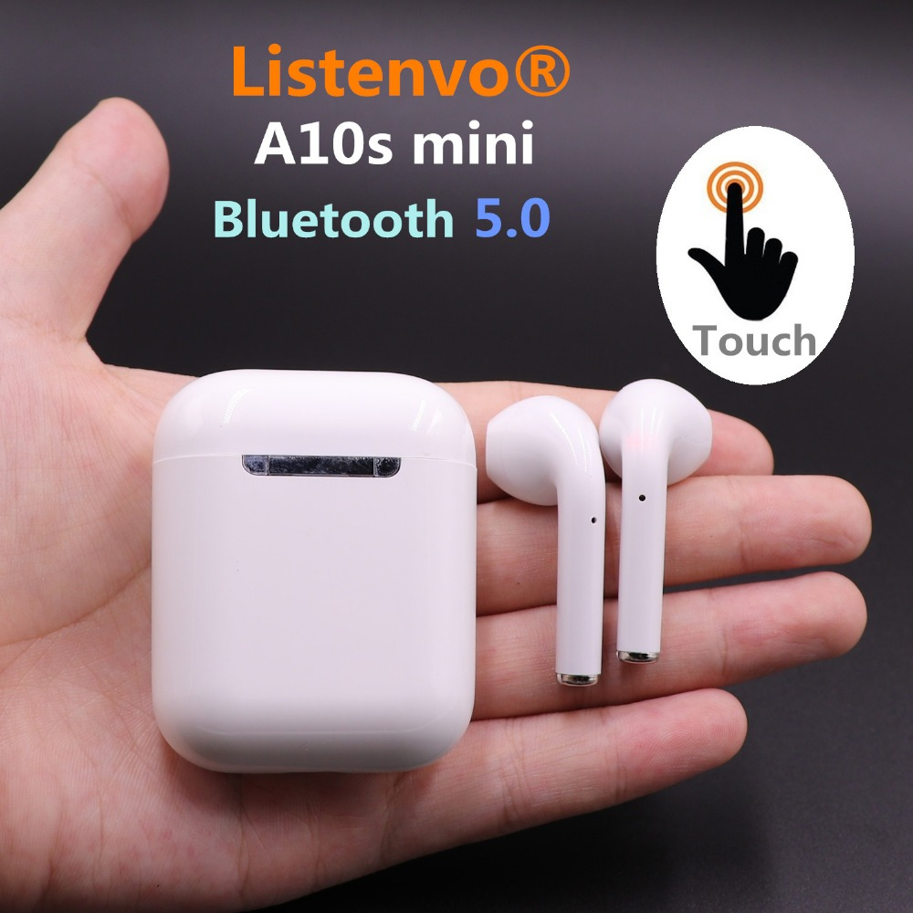 Listenvo New i9s miniX Bluetooth Headset Earbuds Air Pods Wireless Earphone Earbuds for Iphone Apple 6/7/8/PLUS x i9s tws wireless earphone portable bluetooth headset invisible earbud for iphone xs max xr x 8 7 6 plus for xiaomi mobile phone