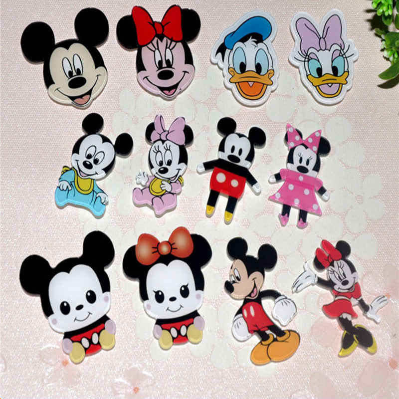 1 PZ Carino Mickey Minnie Donald daisy Anime Cartoon Badge Pin Acrilico Spilla Zaino Borse Decorativi 40 stili scegli