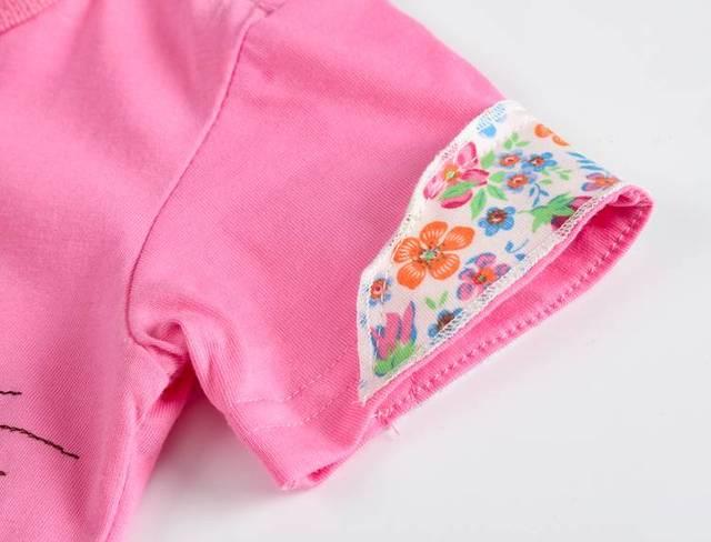 VIDMID Girl t-shirt big Girls tees shirts children blouse t-shirts big sale super quality kids summer clothes jacket rabbit pink 5