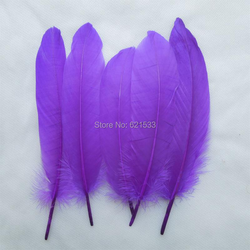 200 шт./лот! Фиолетовый Гусь satinettes оптовая продажа свободные перья идеально подходит для ремесла, дизайн костюма, повязки для Волос Fascinators