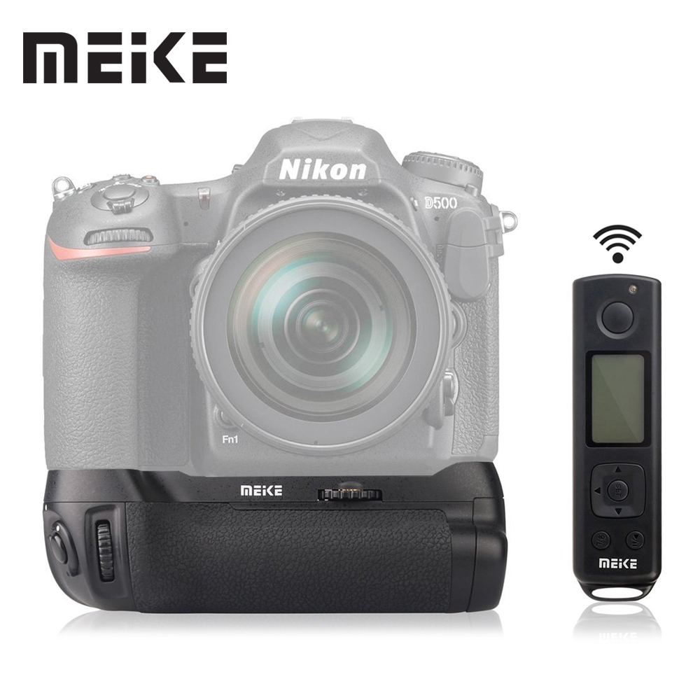 Meike MK-DR500 Vertical Battery Grip for Nikon D500 Battery as MB-D17 with 2.4G Wireless Remote Control meike mk a6300 pro remote control battery grip 2 4g wireless remote control for sony a6300 ilce a6300 np fw50