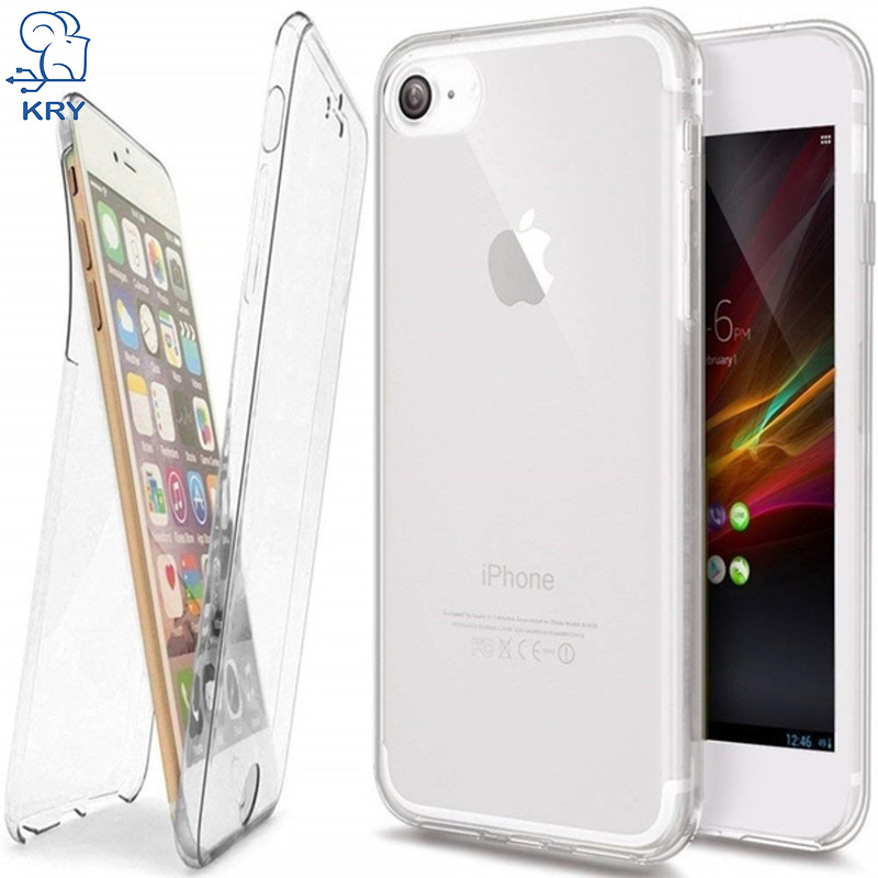 360 Degree Full Protective Phone Cases For Iphone X Case Luxury Soft Clear Silicone TPU Cover For Iphone 7 8 6 6S Plus Case