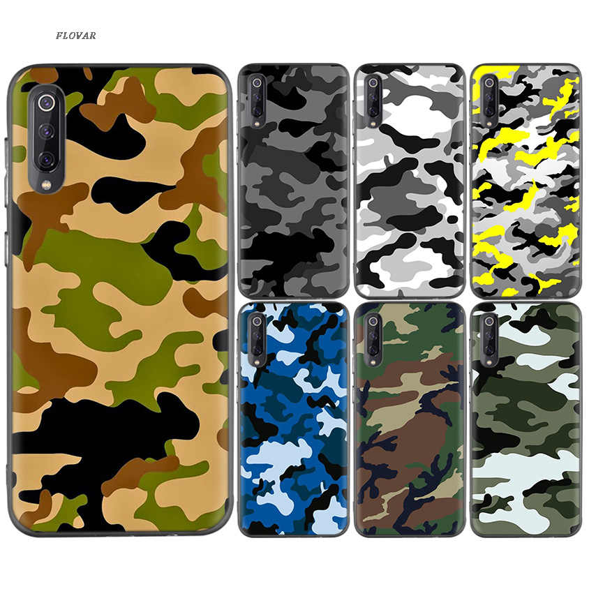 Camouflage Pattern Camo Protection Soft TPU Case For Xiaomi Redmi K20 Y3 7A S2 6A Note 7 7S 6 5 Pro Xiomi 9T 8 A2 lite F1 Cover