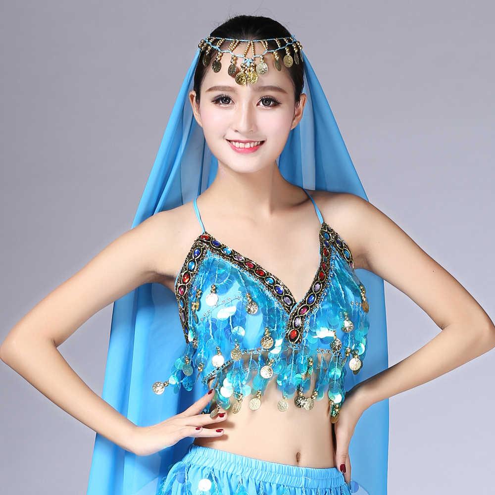 c8f15c72e8023c ... Rainbow Sequin Tassel Mermaid Mirror Festival Body Harness Bra Bralette  Crop Top Beading Coins Lace-
