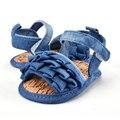 Sandálias de Verão princesa Menina Infantil Do Bebê Camada de Decoração Suave Sole Crib Shoes