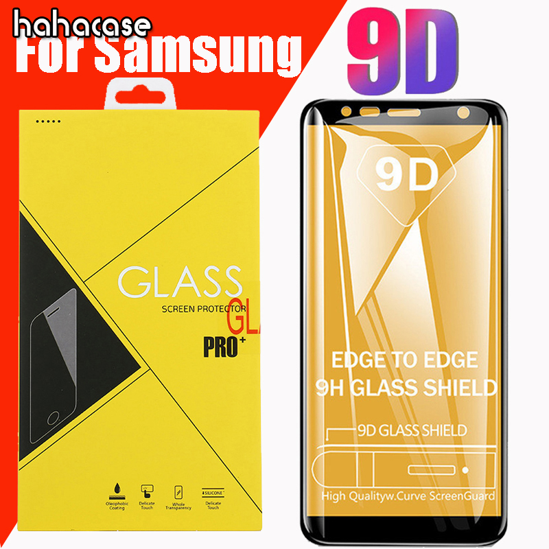 10pcs 9D Full Coverage Tempered Glass For Samsung A9 Star A8 A6 Plus A7 A5 2017 2018 A8S A6S Screen Protector With Yellow Box