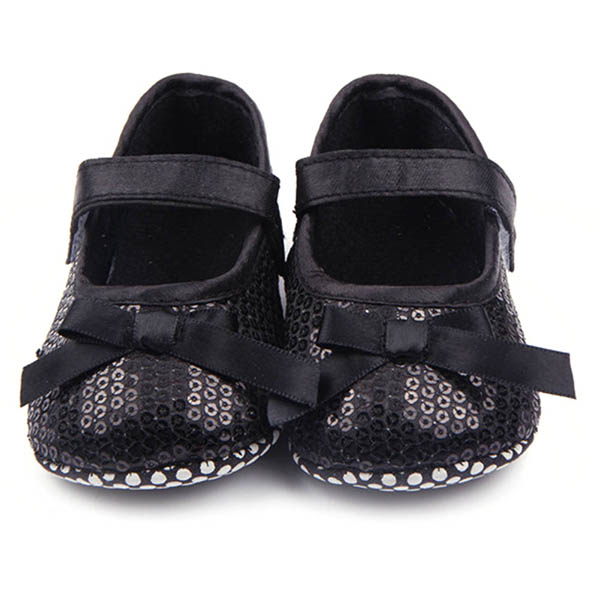 Sweet Baby Girl Bowknot Bling Sequin Shoes Infant Prewalker Toddler Shoes