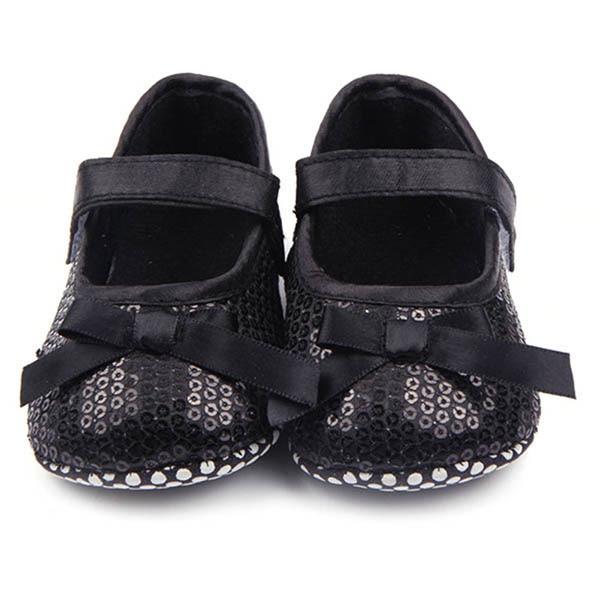Sweet Baby Girl Bowknot Bling Sequin Shoes Infant Prewalker Toddler Shoes