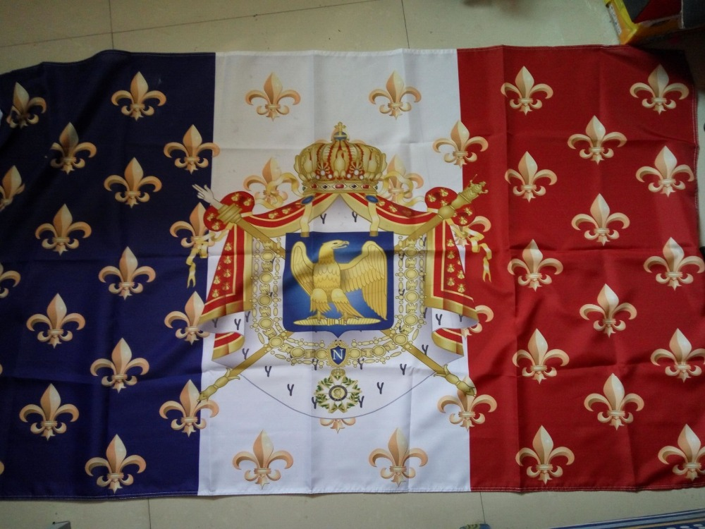 gratis forsendelse aerlxemrbrae fransk flag Royal National Napoleon France Flag 150X90CM Polyester Banner Custom flag udendørs