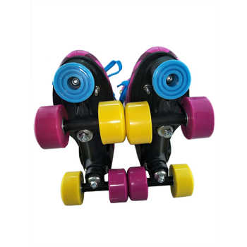 BSTFAMLY Children Double Row Figure Roller Skates Two Line Roller Skating Unisex Patines For Kids Red PU wheels Skate Shoes IB21
