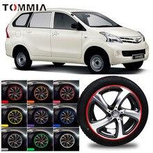 цена на 8M Car Wheel Hub Rim Edge Protector Ring Tire Strip Guard Rubber Decals For Toyota Avanza