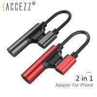 ! Accezz 2 в 1 двойной зарядки Аудио адаптеры для iphone x 10, 8, 7 плюс IOS 10,3 11 зарядки разветвитель AUX кабели разъема