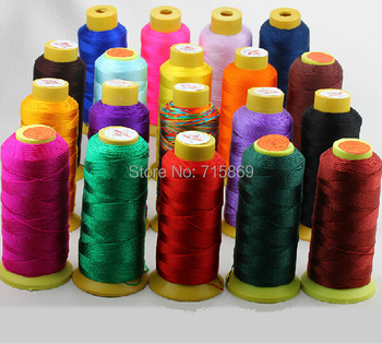 2 Row Multi-Color 320m/lots 0.75mm 9-ply Waxed Acrylic Fiber Cord Macrame Stringing Cord For DIY Necklace & Bracelet image