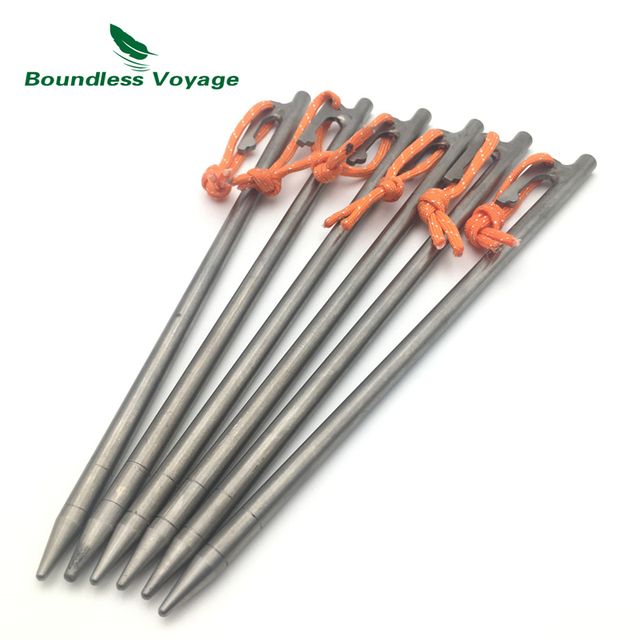 Boundless Voyage Titanium Tent Pegs Compact Tent Stakes Heavy Duty Lightweight C&ing Tent Stakes Mental Accessories  sc 1 st  AliExpress.com & Boundless Voyage Titanium Tent Pegs Compact Tent Stakes Heavy Duty ...