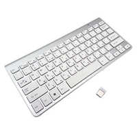 Israel teclado hebraico de alta qualidade ultra-fino teclado sem fio mudo keycap 2.4g teclado para win xp 7 10 caixa de tv android