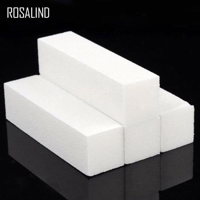 ROSALIND 4 unids/lote de archivo de clavo de herramientas pedicura manicura pulido lijado polaco blanco DIY uñas arte mujer salón