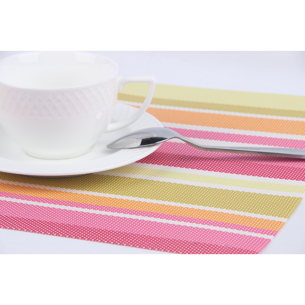washable placemats promotionshop for promotional washable  -  hot  pcsset stripe style high quality washable textilene placematbar plate mat table mat kitchen accessories  cm