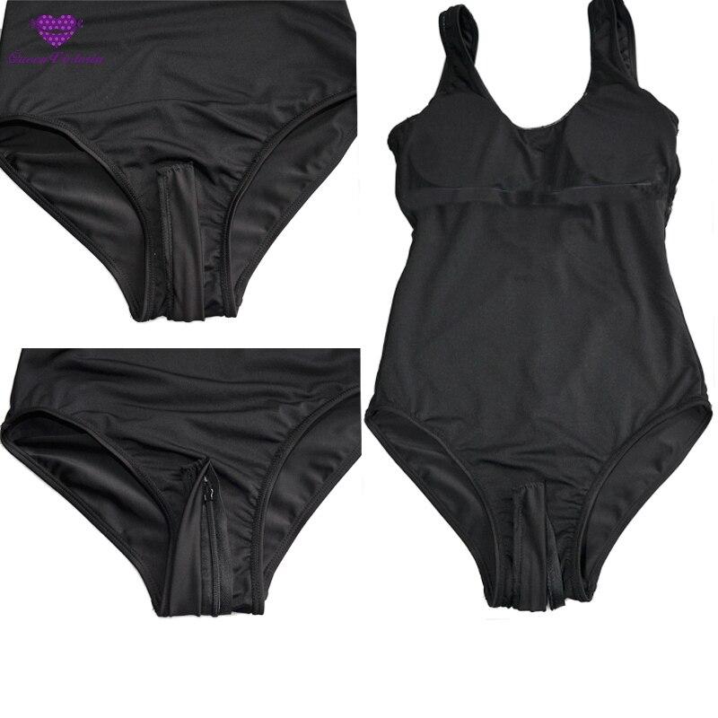 cb05f893314f € 10.01  Caliente sexy zipper sólido japonés sukumizu School Swimsuit  Vestidos Negro Azul adelgazamiento traje de baño mujeres traje de baño del  ...