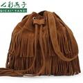 2017 100% Top Quality Women Messenger Bag Retro Faux Suede Fringe Bags HandbagTassel Handbags Crossbody Gift Free Shipping N513