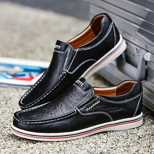 Image 5 - BIMUDUIYU Hot Sell Mens British Style Boat Shoes Minimalist Design Leather Men Dress Shoes Loafers Formal Business Oxfords Shoes