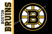 Boston Bruins USA Team Logo NHL Premium Team Hockey Flag 3X5FT BBTL01