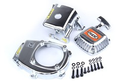 Chrome engine kit(pull starter+cylinder cover+side cover) for 1/5 scale HPI Rovan Baja 5b of 23cc,26cc, 29cc,30.5cc engine