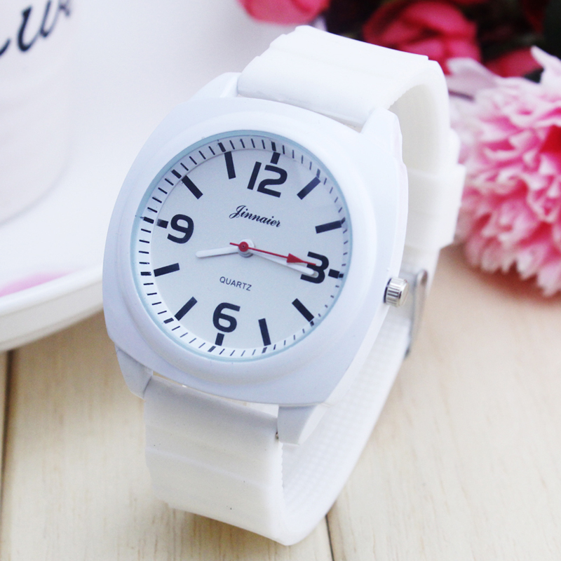 2018 Jinnaier Couples Lovers Women Men Quartz Sports Watches Boys Girls Silicone Jelly Students Waterproof Wristwatches Clock