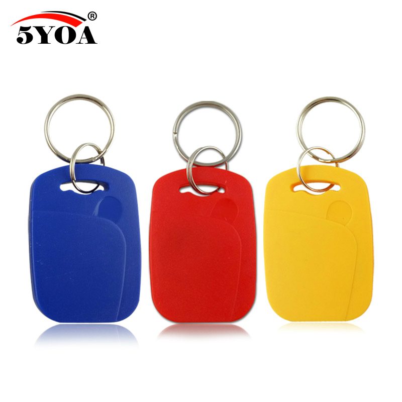 100 500 1000  IC+ID UID Rewritable Composite Key Tags Keyfob Dual Chip RFID 125KHZ T5577 EM4305+13.56MHZ Changeable Writable