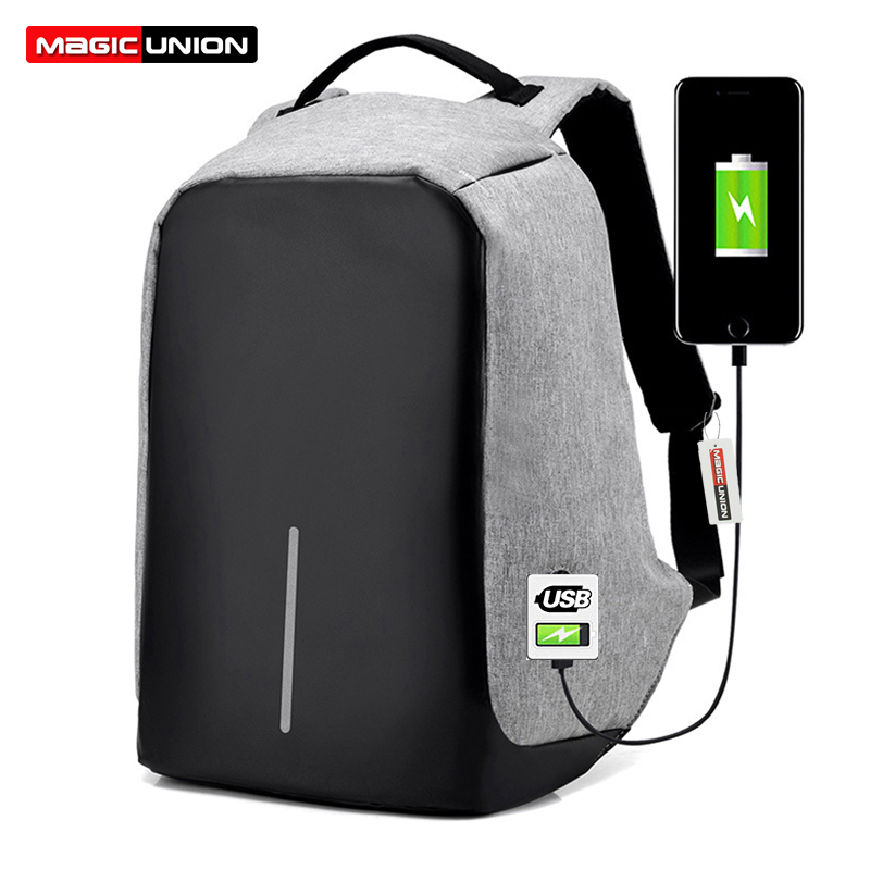 MAGIC UNION Multifunction USB Charging Men 15 inch Laptop Backpacks for Teenager Fashion Male Mochila Leisure Travel Backpack multifunction usb charging men 14 15 inch laptop backpacks for teenager fashion male mochila leisure travel backpack anti thief