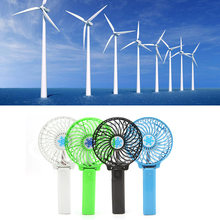 Foldable Hand Fans Battery Operated Rechargeable Handheld Mini Fan Electric Personal Fans Hand Bar Desktop Fan L29k(China)