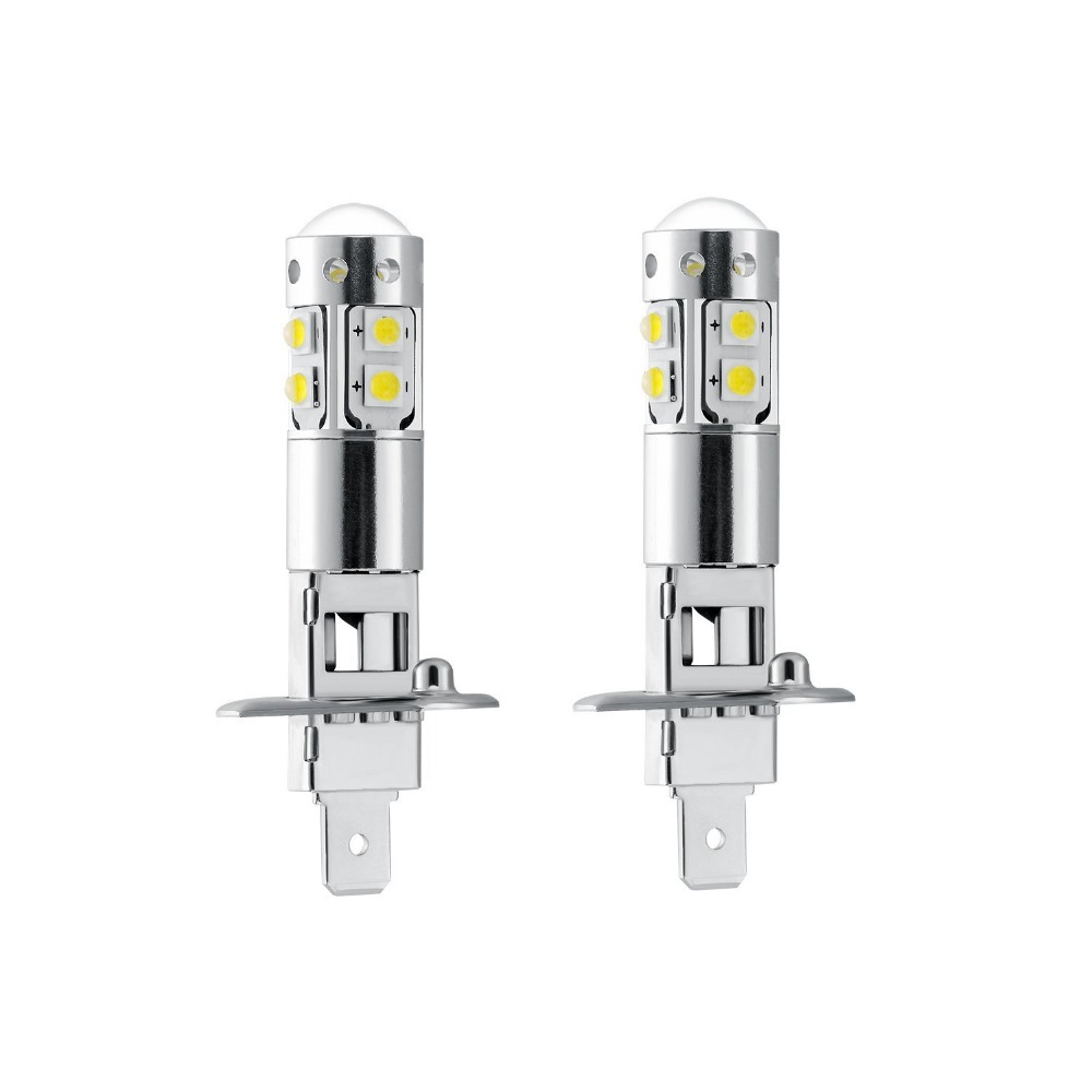 2PCS High Quality H1 50W High Power 10 LED Cool White Car Replacement Bulbs Fog Lamp Auto Driving Light DC12V