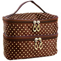 2017 Fashion Portable Colorful Small Dots Toiletry Makeup Wash Case New Handbag Travel Cosmetic Bag Gift Free Shipping S385