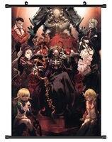 Аниме постер Overlord Декор стены прокрутки Косплей 60*90 см