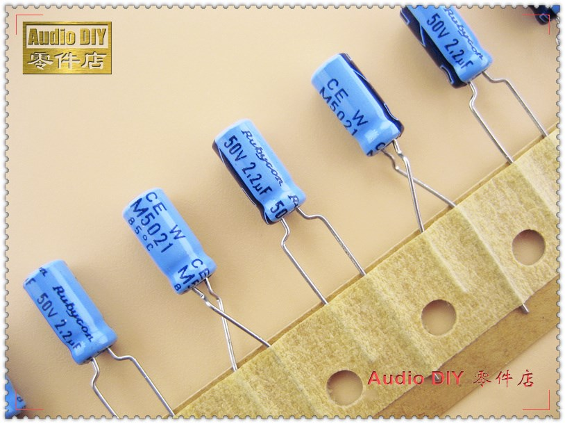 20PCS/100PCS Rubycon Old Models Sky Blue TWSS Series 2.2uF 50V 50V2.2UF Electrolytic Capacitor