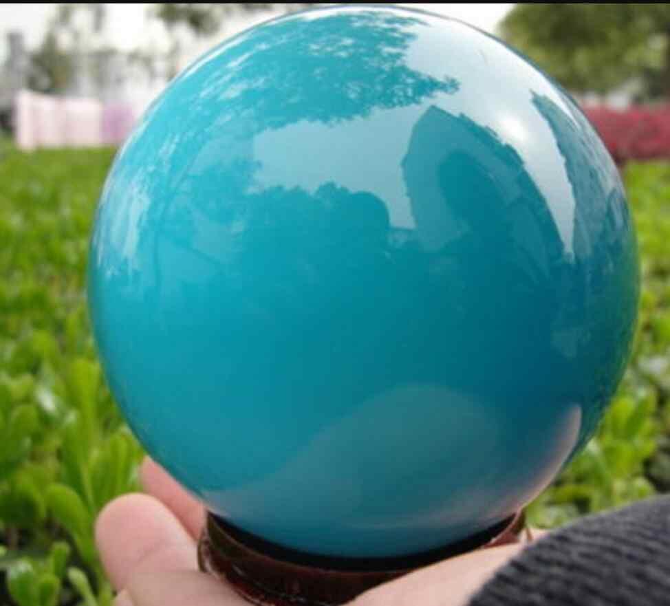 Jual Hot Asia Kuarsa Biru Mata Kucing Kristal Bola 60 Mm + Stand