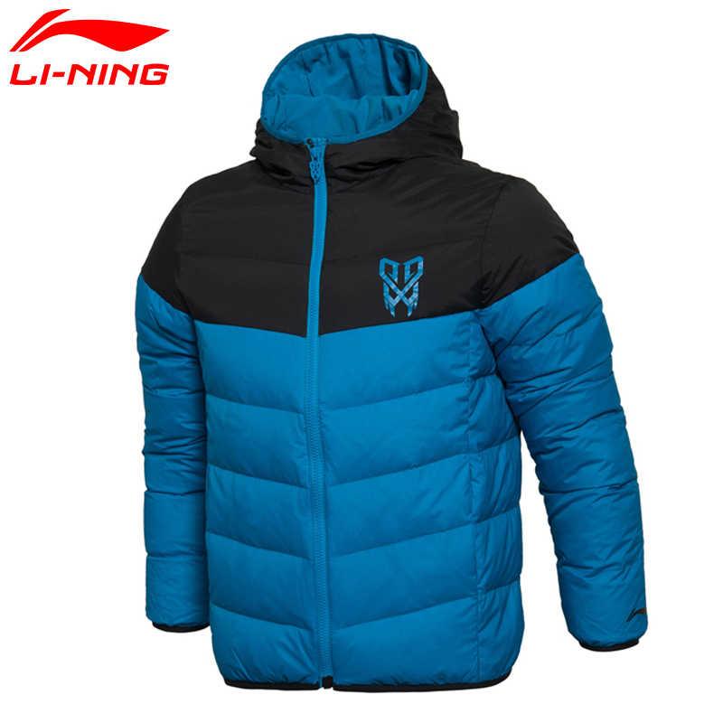Li-Ning の男性バスケットボールショートダウンジャケットウォームコン裏地冬ジャケット AYML053