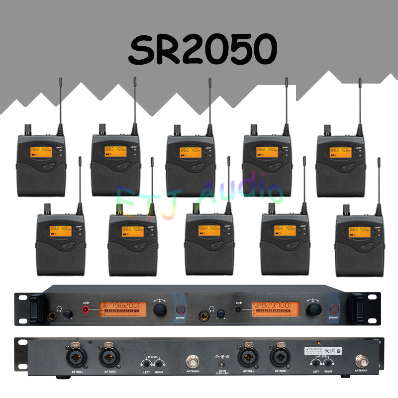 In Ear Monitor Wireless System  Professional for Stage Performance SR2050 IEM With 10 Receiver wireless pager system 433 92mhz wireless restaurant table buzzer with monitor and watch receiver 3 display 42 call button