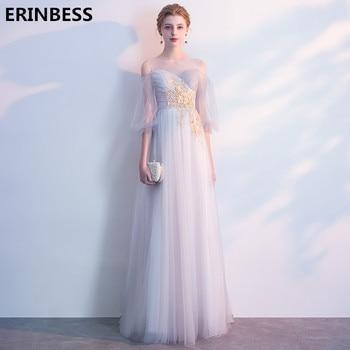 Vestidos De Festa Half Sleeve Evening Dress Elegant Robe De Soiree Scoop Neck Evening Dresses Long Dress Party Gowns 2019