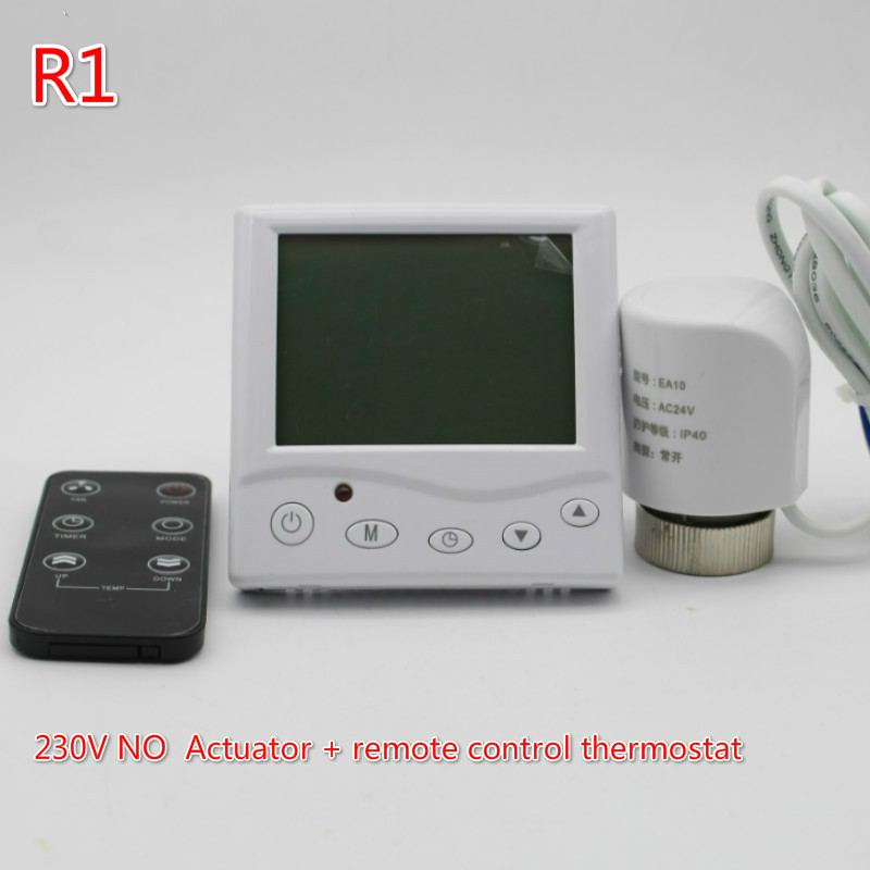 Underfloor heating Thermal Electric Actuator 230V NO thermostat Warm Floor with Manifold valve control programmable thermostat heating temp wifi lcd touch screen temperature control underfloor 16a 230v