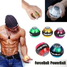 New 6 Colors Gyroscope PowerBall Gyro Power Ball Wrist Arm Exercise Strengthener LED digital Force Ball