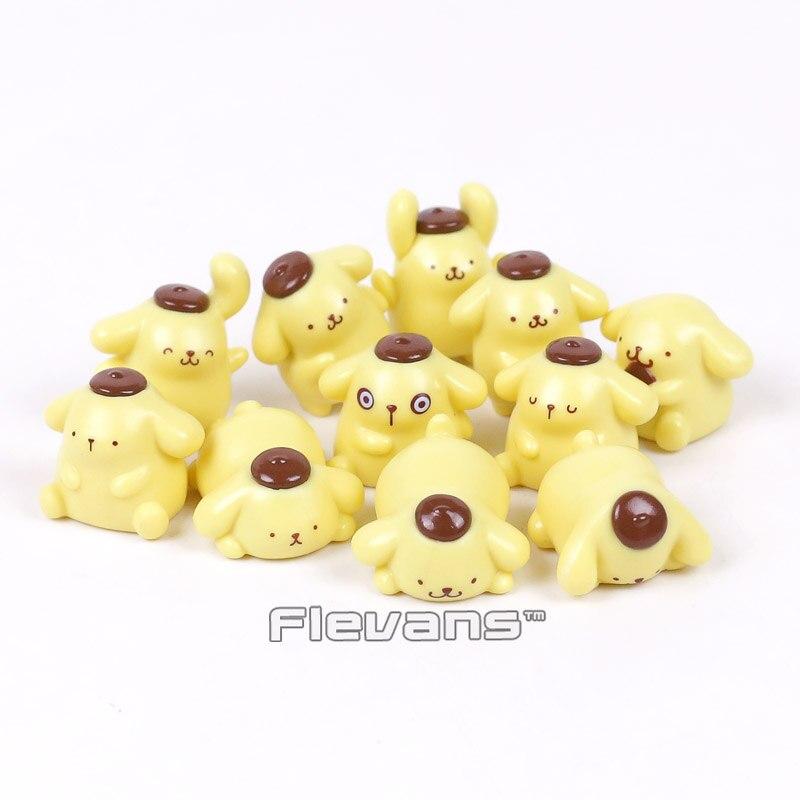 Cute Lovely Pom Pom Purin Dog Mini PVC Figures Collectible Model Toys 11pcs/set 2~4cmCute Lovely Pom Pom Purin Dog Mini PVC Figures Collectible Model Toys 11pcs/set 2~4cm
