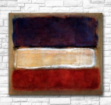 For Living Room Abstract Mark Rothko Untitled Purple and White Red canvas painting Home Decor 100% Handpainted Oil Painting