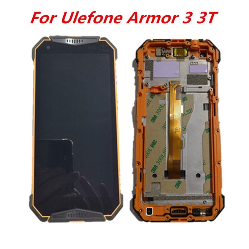Original Ulefone Armor 3 3T LCD Display Assembly Digitizer With Frame Touch Screen Glass Panel Repair
