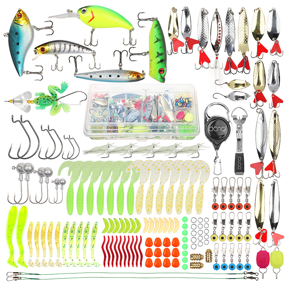 DONQL Mixed Fishing Lure Set Minnow Spoon Soft Fishing Baits Kit With Box Artificial Bait Gear Pesca Fishing Tackle SetDONQL Mixed Fishing Lure Set Minnow Spoon Soft Fishing Baits Kit With Box Artificial Bait Gear Pesca Fishing Tackle Set