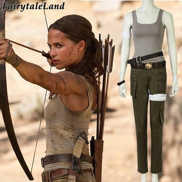 2018 Movie Tomb Raider Lara Croft Cosplay Costume Halloween Costumes